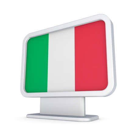 lightbox: Italian flag in a lightbox