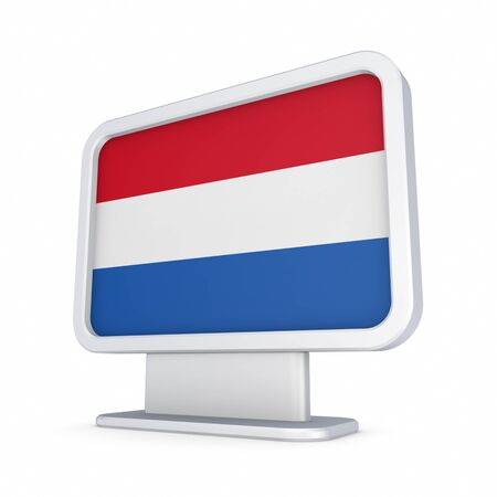 lightbox: Dutch flag in a lightbox