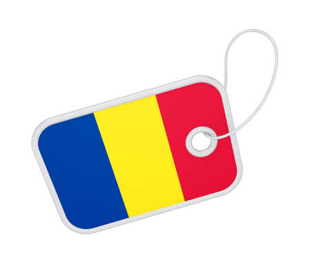 Tag with a flag of Romania  photo