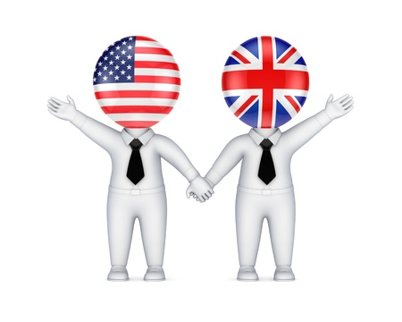 US-British cooperation concept  photo