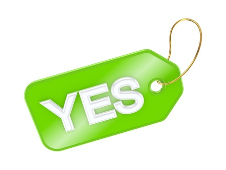 Tag YES  Stock Photo - 17816725