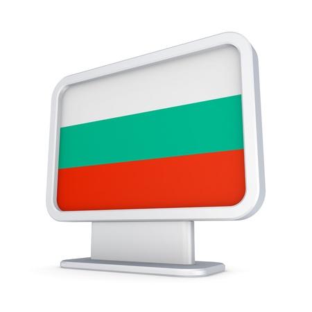 lightbox: Bulgarian flag in a lightbox