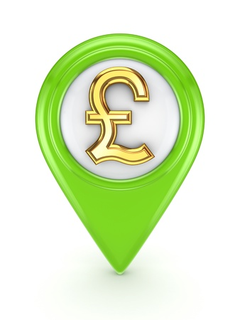 pound sterling: Icon with sign of pound sterling