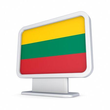 lightbox: Lithuanian flag in a lightbox