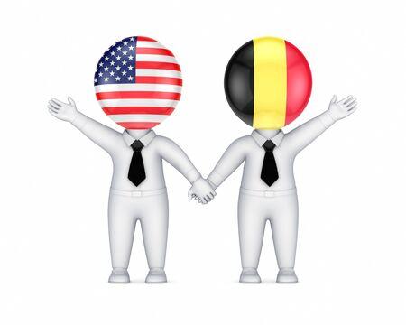 US-Belgian cooperation concept  photo