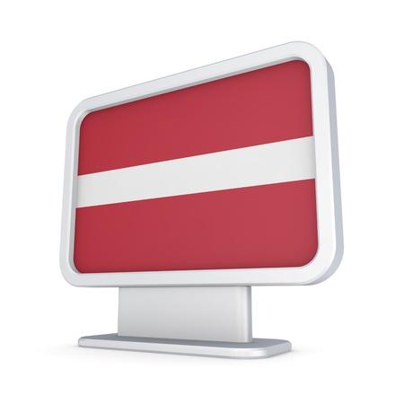 lightbox: Latvian flag in a lightbox  Stock Photo