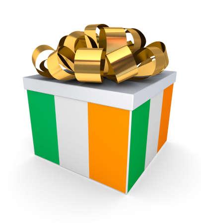 irish pride: Giftbox with irish flag