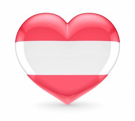 austrian flag: Austrian flag on a heart  Stock Photo