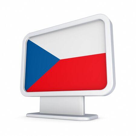 lightbox: Czech Republic flag in a lightbox