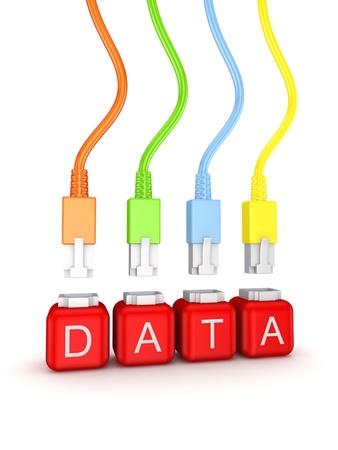 telecomm: Datos concepto Foto de archivo