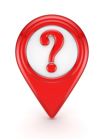 Red icon with query mark Stock Photo - 18429163