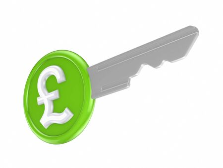 Pound sterling sign on a key  Stock Photo - 18429082