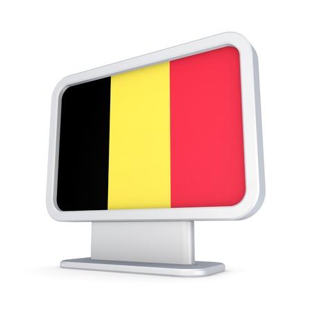 lightbox: Belgian flag in a lightbox