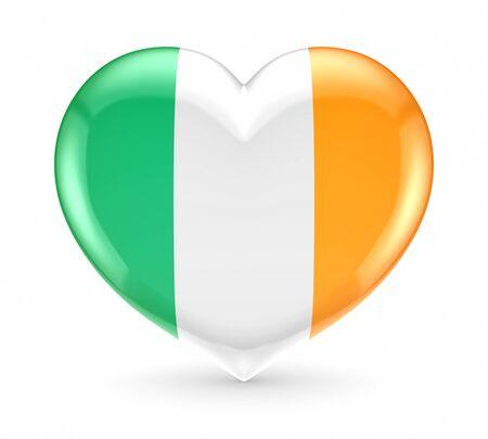 irish pride: Irish flag on a heart  Stock Photo