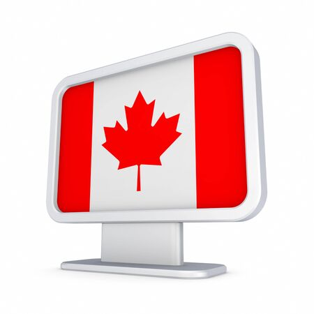 lightbox: Canadian flag in a lightbox  Stock Photo