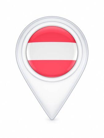 austrian: Icon with austrian flag