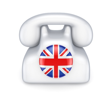 Retro telephone with british flag  photo