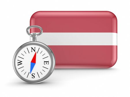 Latvian flag  Stock Photo - 18564900