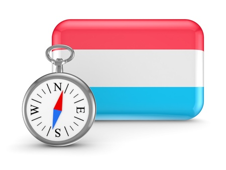 Luxembourgian flag Stock Photo - 18564898