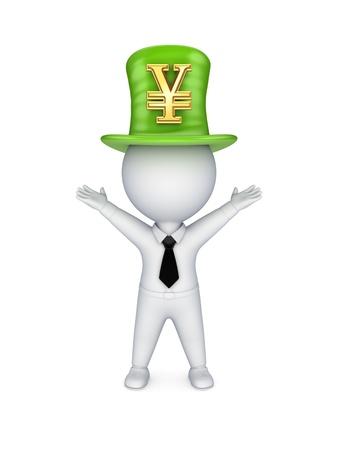 tophat: Verde top-hat con il simbolo di yen