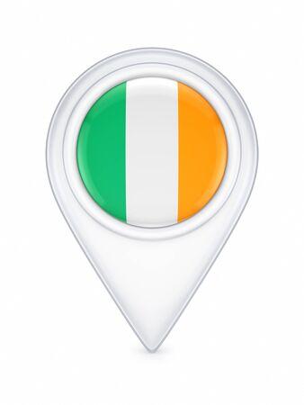 irish pride: Icon with irish flag