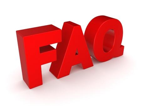 Word FAQ  Stock Photo - 18564634