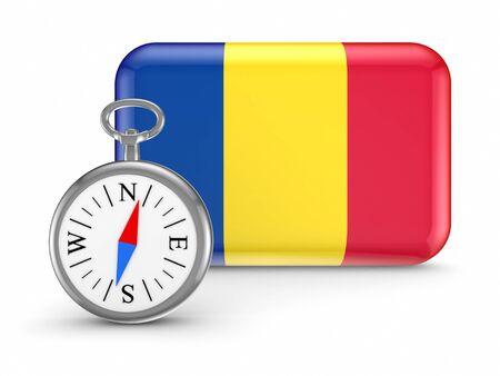 Romanian flag Stock Photo - 18615416