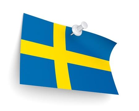swedish: Swedish flag  Stock Photo