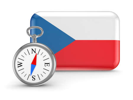 Czech flag  Stock Photo - 18615390