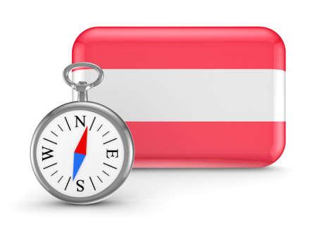 Austrian flag Stock Photo - 18615406