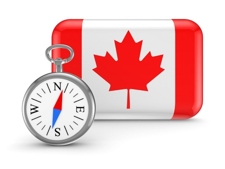 Canadian flag  Stock Photo - 18615440