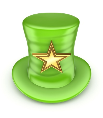 stovepipe hat: Green top-hat with golden star