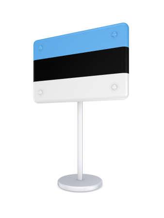 bunner: Bunner with flag of Estonia  Stock Photo