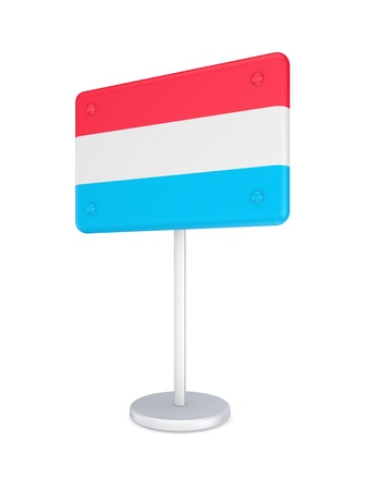 Bunner with flag of Luxembourg  photo