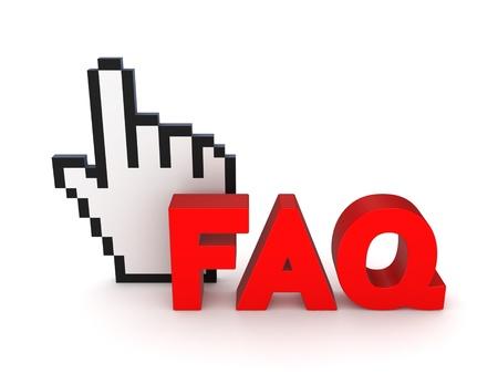 FAQ concept  Stock Photo - 18686648