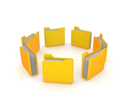 Yellow folders  photo