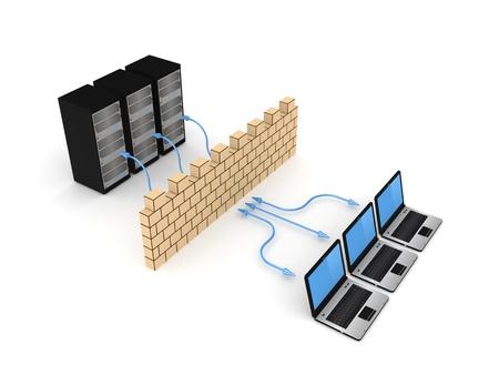 Firewall concept  写真素材