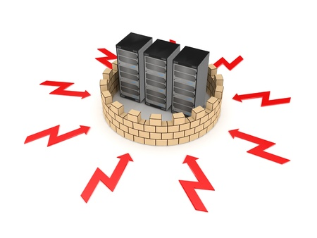 isp: Firewall concept  Stock Photo