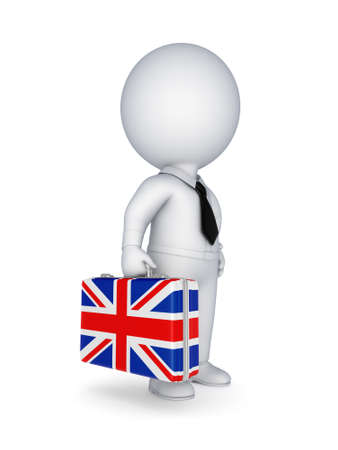 Suitcase with flag of England  photo