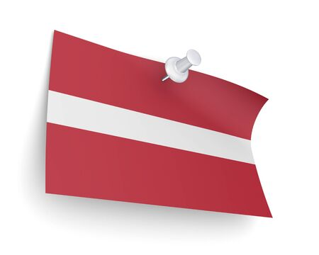 Latvian flag  photo