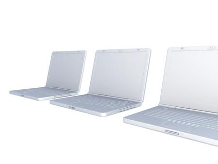 Modern notebooks  Stock Photo - 18743707