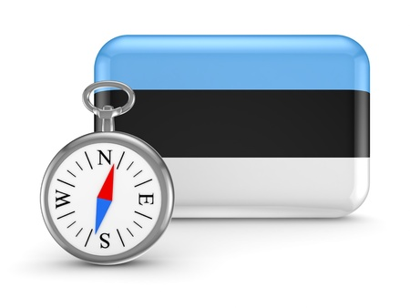 Estonian flag  Stock Photo - 18743690