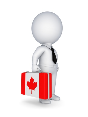 canada: Suitcase with flag of Canada