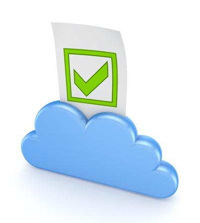 Cloud computing concept Stock Photo - 18743632