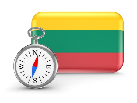 Lithuanian flag  Stock Photo - 18743837