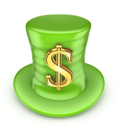 stovepipe hat: Pointers made of dollars