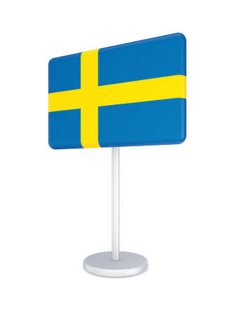 Bunner with flag of Sweden  Stock Photo - 18743771