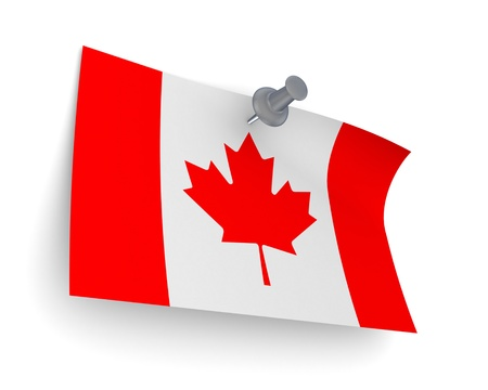 canadian flag: Canadian flag  Stock Photo