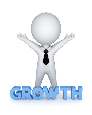 Word GROWTH  Stock Photo - 19539173
