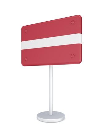 bunner: Bunner with flag of Latvia